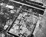 Damaged Japanese aircraft hangar on Formosa 1945.jpg