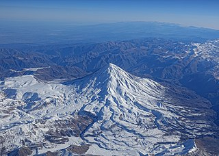 Mount Damavand potentially active volcano or Stratovolcano and the highest peak in Iran