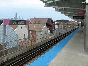 Damen station (CTA Pink Line) - Image: Damen Pink Station