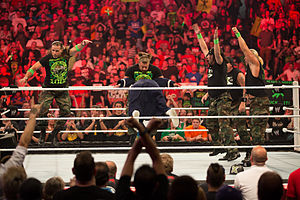 "Damien Sandow - Sandow being ""martyred"" by D-Generation X at Raw 1000"