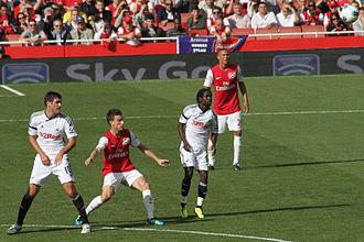 Laurent Koscielny - Koscielny playing for Arsenal on 10 September 2011 against Swansea City.