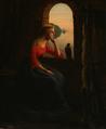 Dansk maler, En kvinde skuer tænksomt ud over havet. Antagelig sceneri fra en nordisk saga, 19. århundrede .png