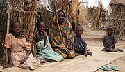 Darfur IDPs children sitting