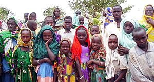 Group of people in Darfur