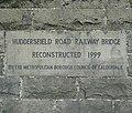 Datestone on the Huddersfield Road railway bridge, Rastrick - geograph.org.uk - 1422541.jpg