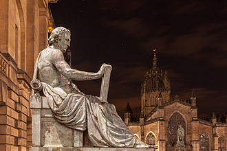 David Hume - Statue of Hume by Alexander Stoddart on the Royal Mile in Edinburgh