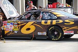 David Ragan - Ragan's car in the garage preparing for the 2009 Pep Boys Auto 500