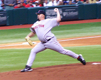 David Wells - Wells pitching for the Red Sox in 2006