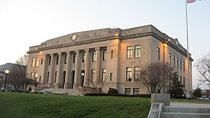 Washington, Indiana - Daviess County courthouse in Washington