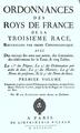 De Laurière - Ordonnances des Roys de France de la Troisième Race, 1723.png