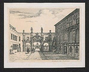 De binnenkoer van het Rubenshuis
