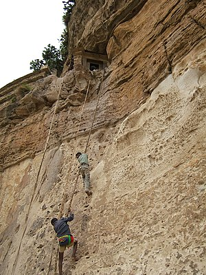 Debre Damo - The way up to the monastery