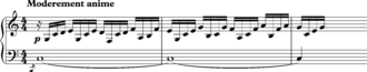 "Augmentation (music) - Debussy, ""Dr Gradus"" from Childrens Corner, bars 1-3"