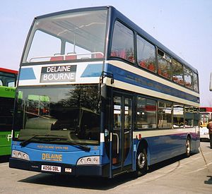 Delaine Buses - East Lancs Olympus bodied Volvo B9TL in April 2007