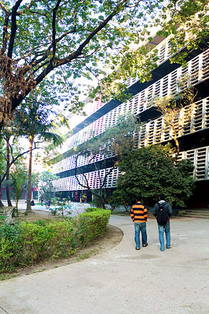 Bangladesh University of Engineering and Technology - Entry approach of the Department of Architecture, BUET