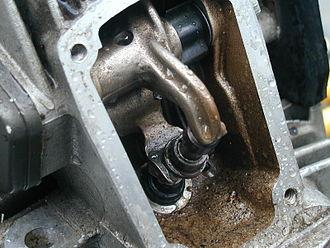 Desmodromic valve - Desmodromic poppet valve in Ducati engine.