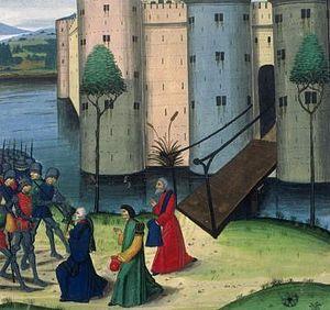 Celaenae - Surrender of Celaenae to Alexander the Great in medieval manuscript.
