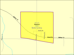 Detailed map of Monowi, Nebraska