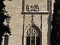 Detalle fachada principal de la Lonja de la Seda de Valencia, estilo gótico civil. Valencia, España.jpg