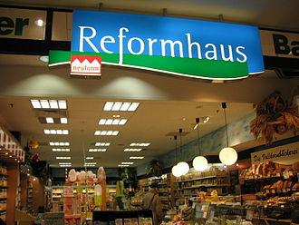Reformhaus - Entrance of a Reformhaus store