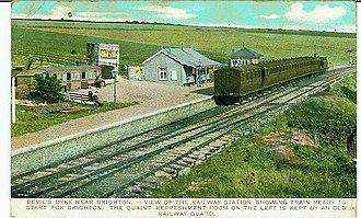 The Dyke railway station - Image: Devil's Dyke Station