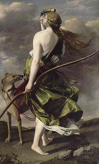 Diana the Huntress by Orazio Gentileschi (17th-century).jpg