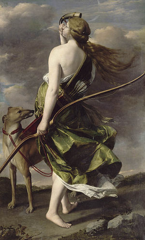 Orazio Gentileschi - Diana the Huntress by Orazio Gentileschi