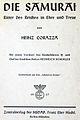 Die Samurai - Ritter Des Reiches in Ehre und Treue, von Heinz Corazza (1937).jpg
