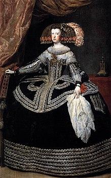 Diego Velázquez - Queen Doña Mariana of Austria - WGA24462.jpg