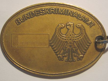 Badge of the German Bundeskriminalamt Dima-rs1.jpg