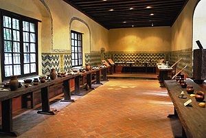 Museo Nacional de las Intervenciones - Recreated dining hall of the old monastery