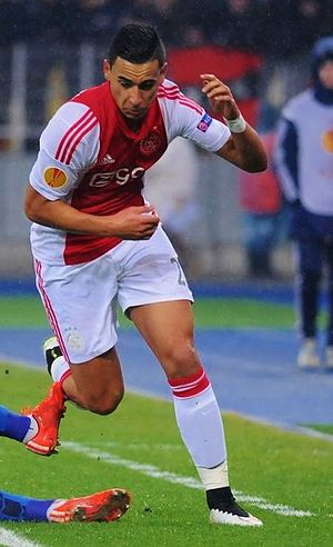 Anwar El Ghazi - El Ghazi playing for Ajax in March 2015
