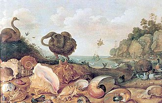 Gillis d'Hondecoeter - Perseus and Andromeda with a Dodo and seashells