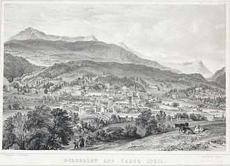 Dolgellau - Sketch of Dolgellau, 1840