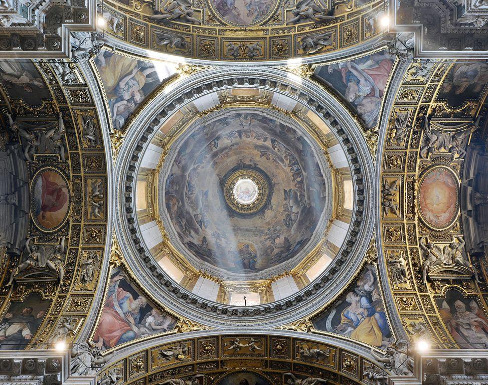 Dome de la chapelle Paoline de la basilique Sainte Marie Majeure à Rome. Photo de LivioAndronico
