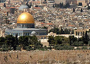 The Dome of the Rock, built atop the Temple Mount, marks the spot from which Muslims believe Muhammad ascended to Paradise.