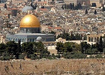 Cúpula de la Roca en el centro de la Explanada de las Mezquitas
