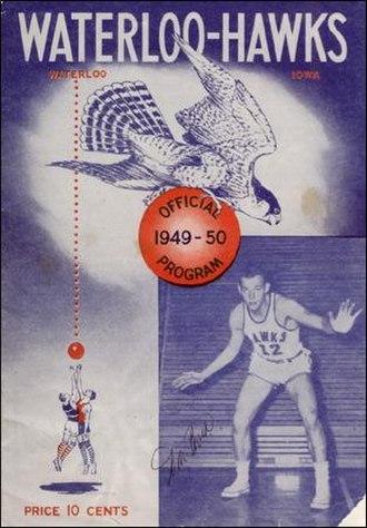 Waterloo Hawks - An autographed program from the Waterloo Hawks 1949–50 season.
