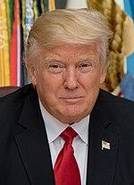 Donald Trump i spojrzenie jak z westernu