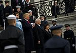 Donald and Melania Trump, Mike and Karen Pence at U.S. Capitol 01-20-17.jpg