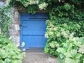 Door with hydrangea - geograph.org.uk - 859979.jpg