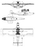 Dornier Wal 3-view Le Document aéronautique June,1926.png