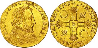 Francis II of France - Coinage under Francis II, with the bust of his father Henri II