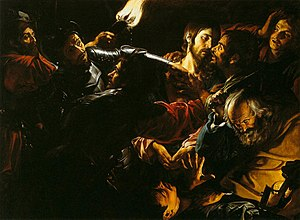 Gerard Douffet - The Taking of Christ by Douffet, c. 1620, now in the Museum of Fine Arts, Boston