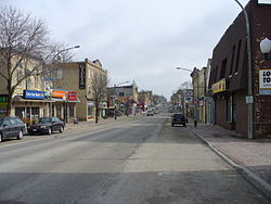 Downtown Mount Forest in March 2009.