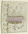 """Drawing, Design for Embroidered Waistcoat, pattern 1819 of the Fabrique de St. Ruf, """"Gilet"""" design, ca. 1785 (CH 18214219).jpg"""