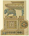 Drawing, Design for a Surtout de Table, for State Porcelain Service of Ismail, Khedive of Egypt, 1873–76 (CH 18680443).jpg