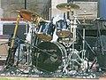 Drum set The Nighthawks Fridays on the Square Court Square downtown Harrisonburg VA July 2008.jpg