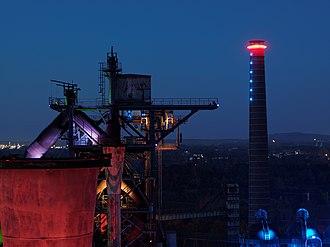 Landschaftspark Duisburg-Nord - Light installations by Jonathan Park