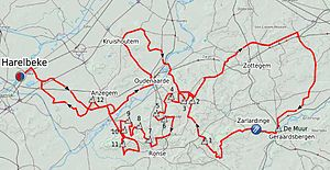 E3 Harelbeke - Route of the 2012 edition